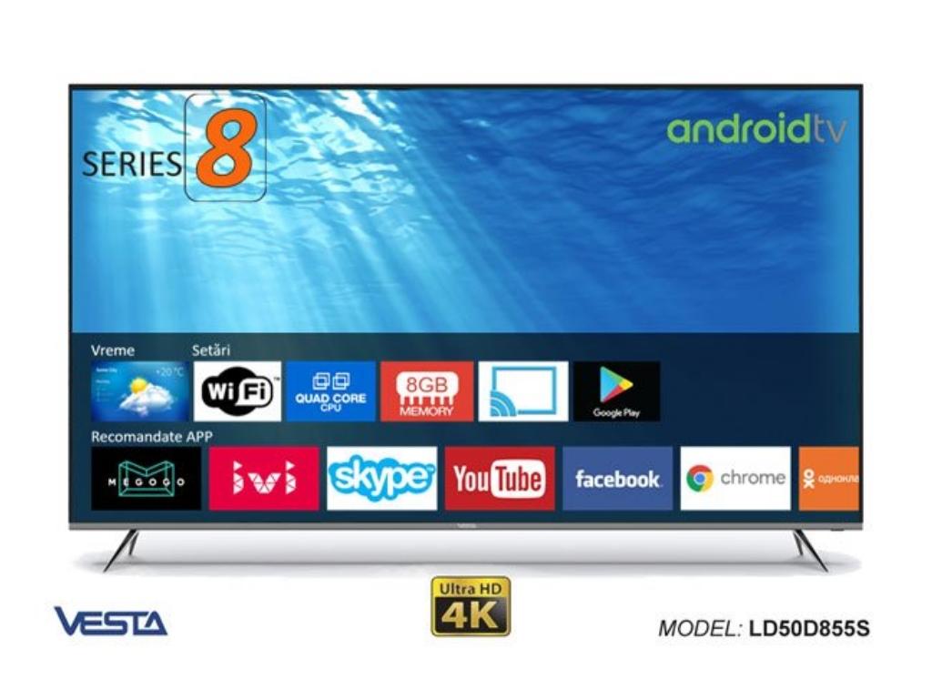 50'' Vesta LD50D855S/IPTV 4K AndroidTV 7 1 (127 cm), 4K(3840