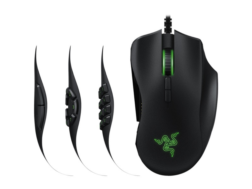 c81a1e4c6c6 RAZER Naga Trinity / Multi-color MOBA Gaming Mouse, 16000dpi, 19  programmable buttons, 12 MOBA buttons, Optical sensor 5G, Razer Chroma  lighting 16.8M ...